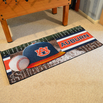 "30"" x 72"" Auburn Baseball Style Rectangle Runner Mat"