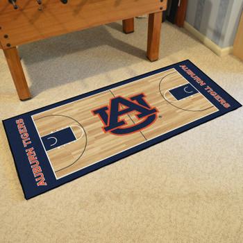 "30"" x 72"" Auburn University NCAA Basketball Rectangle Runner Mat"