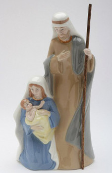 Holy Family Porcelain Musical Music Box Sculpture