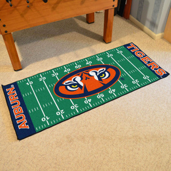 "30"" x 72"" Auburn University Tigers Football Field Rectangle Runner Mat"