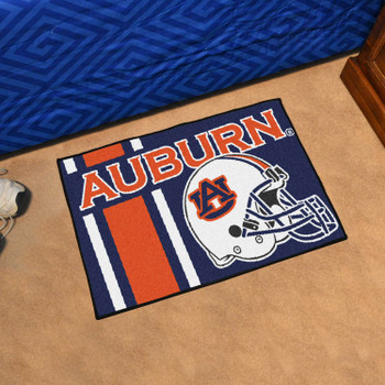 "19"" x 30"" Auburn University Uniform Navy Blue Rectangle Starter Mat"