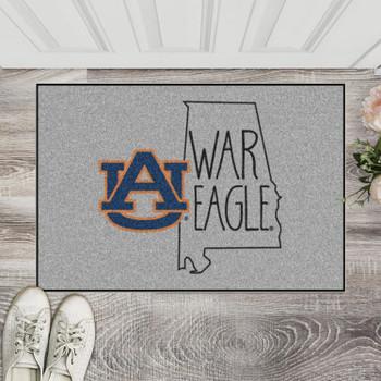 "19"" x 30"" Auburn University Southern Style Gray Rectangle Starter Mat"