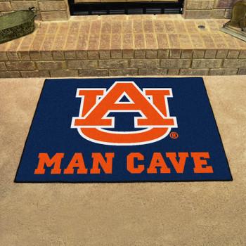 "33.75"" x 42.5"" Auburn University Man Cave All-Star Navy Blue Rectangle Mat"