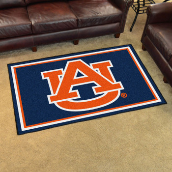 4' x 6' Auburn University AU Logo Rectangle Rug