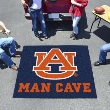 "59.5"" x 71"" Auburn University Man Cave Tailgater Navy Blue Rectangle Mat"