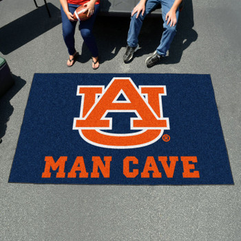 "59.5"" x 94.5"" Auburn University Man Cave Navy Blue Rectangle Ulti Mat"