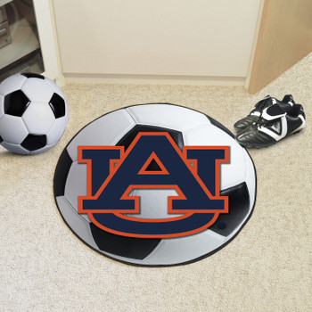 "27"" Auburn University Soccer Ball Round Mat"