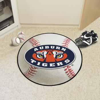 """27"""" Auburn University Tigers Baseball Style Round Mat"""
