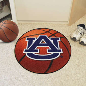 """27"""" Auburn University AU Logo Orange Basketball Style Round Mat"""