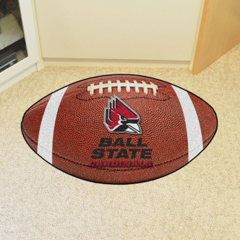 """20.5"""" x 32.5"""" Ball State University Football Shape Mat"""