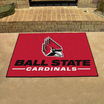 "33.75"" x 42.5"" Ball State University All Star Red Rectangle Mat"