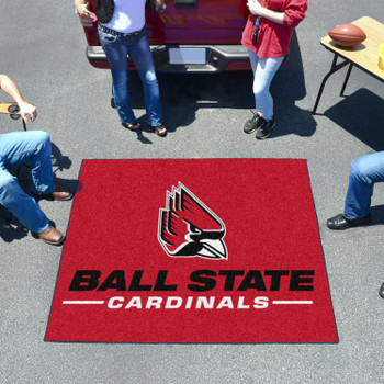 "59.5"" x 71"" Ball State University Red Tailgater Mat"