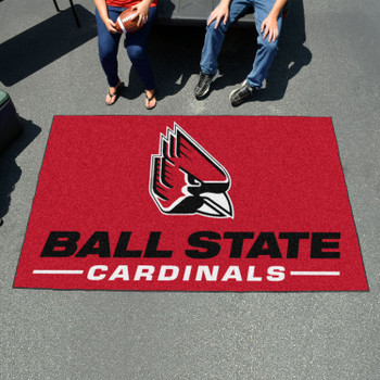"59.5"" x 94.5"" Ball State University Red Rectangle Ulti Mat"