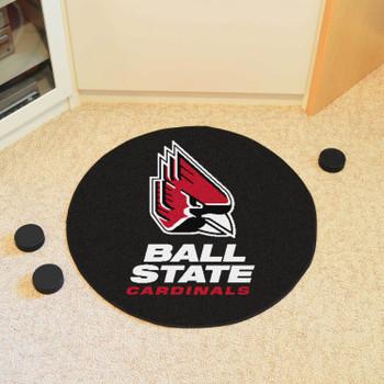 "27"" Ball State University Puck Round Mat - ""Cardinal"" Logo"