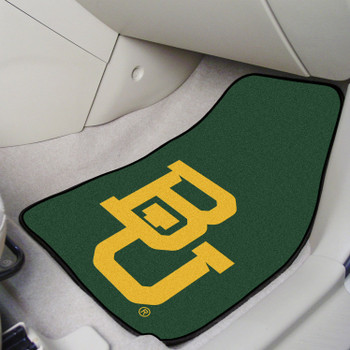 Baylor University Black Carpet Car Mat, Set of 2