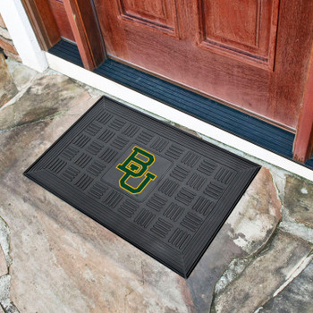 "19.5"" x 31.25"" Baylor University Medallion Rectangle Door Mat"
