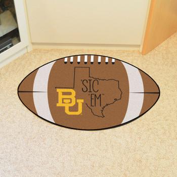 "20.5"" x 32.5"" Baylor University Southern Style Football Shape Mat"