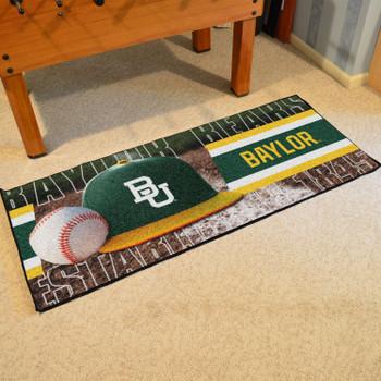 "30"" x 72"" Baylor Baseball Style Rectangle Runner Mat"