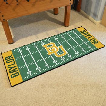 """30"""" x 72"""" Baylor University Football Field Rectangle Runner Mat"""