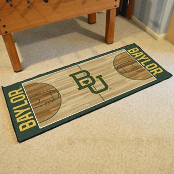 "30"" x 72"" Baylor University NCAA Basketball Rectangle Runner Mat"