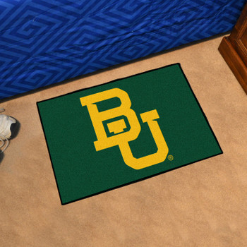 "19"" x 30"" Baylor University Black Rectangle Starter Mat"