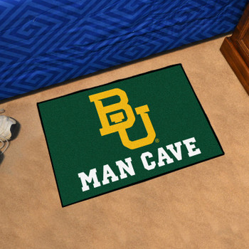 "19"" x 30"" Baylor University Man Cave Starter Green Rectangle Mat"