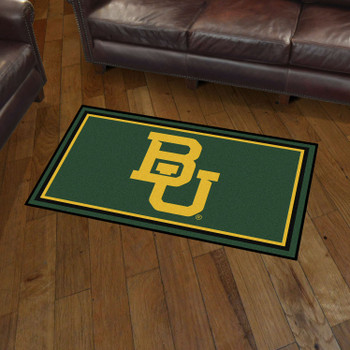 3' x 5' Baylor University Green Rectangle Rug