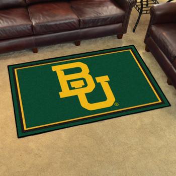 4' x 6' Baylor University Green Rectangle Rug