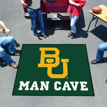 "59.5"" x 71"" Baylor University Man Cave Tailgater Green Rectangle Mat"