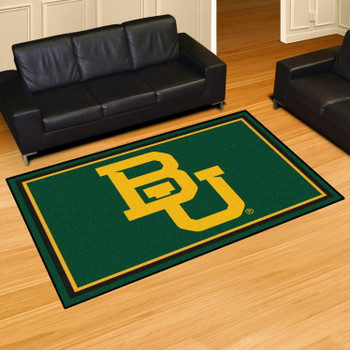 5' x 8' Baylor University Green Rectangle Rug