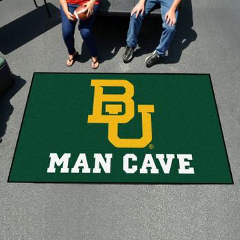 """59.5"""" x 94.5"""" Baylor University Man Cave Green Rectangle Ulti Mat"""