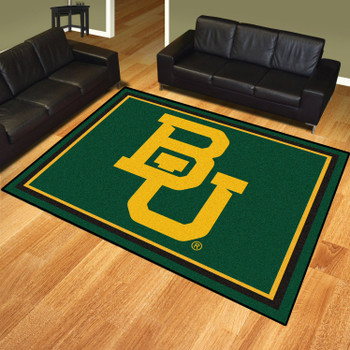 8' x 10' Baylor University Green Rectangle Rug
