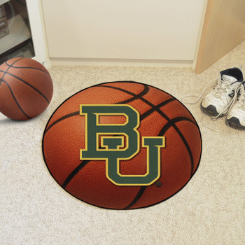 "27"" Baylor University Basketball Style Round Mat"