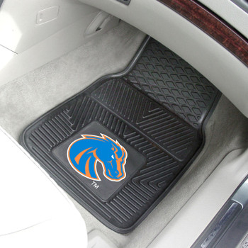 Boise State University Heavy Duty Vinyl Front Black Car Mat, Set of 2