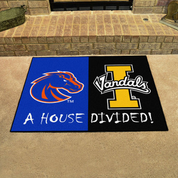 "33.75"" x 42.5"" Boise State / Idaho House Divided Rectangle Mat"