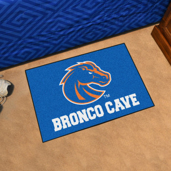"19"" x 30"" Boise State University Man Cave Starter Blue Rectangle Mat"