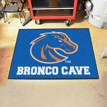 "33.75"" x 42.5"" Boise State University Man Cave All-Star Blue Rectangle Mat"