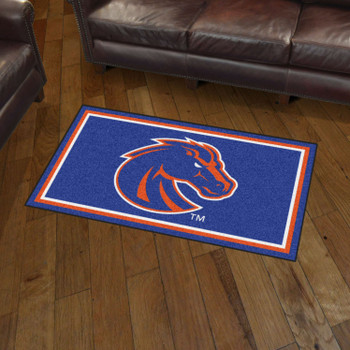 3' x 5' Boise State University Blue Rectangle Rug