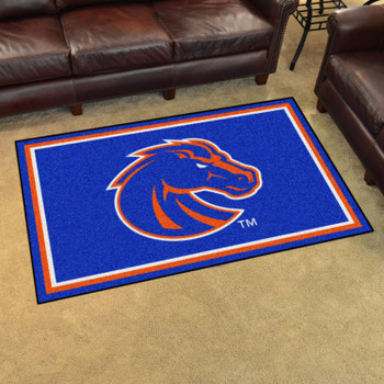 4' x 6' Boise State University Blue Rectangle Rug