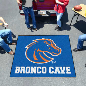 "59.5"" x 71"" Boise State University Man Cave Tailgater Blue Rectangle Mat"