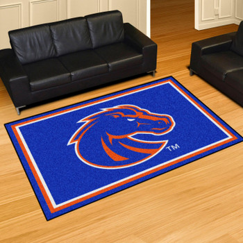 5' x 8' Boise State University Blue Rectangle Rug