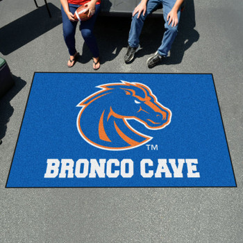 "59.5"" x 94.5"" Boise State University Man Cave Blue Rectangle Ulti Mat"