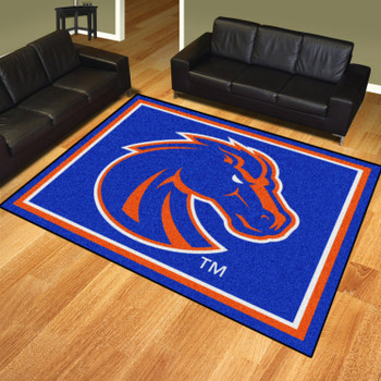 8' x 10' Boise State University Blue Rectangle Rug