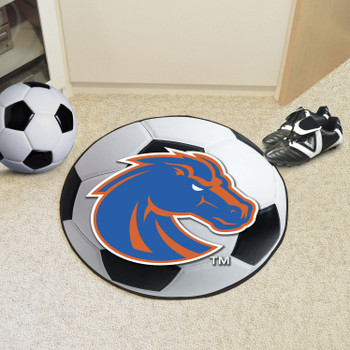 """27"""" Boise State University Soccer Ball Round Mat"""