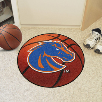 "27"" Boise State University Basketball Style Round Mat"