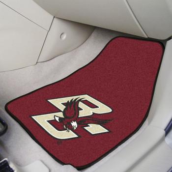 Boston College Maroon Carpet Car Mat, Set of 2
