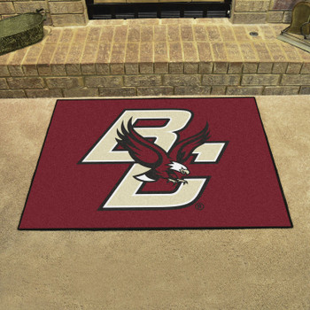 "33.75"" x 42.5"" Boston College All Star Maroon Rectangle Mat"