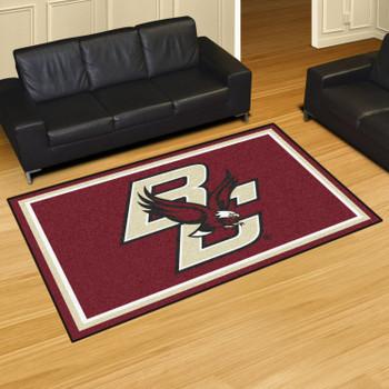 5' x 8' Boston College Maroon Rectangle Rug