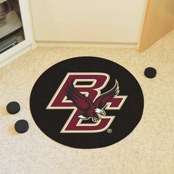 "27"" Boston College Puck Round Mat - ""BC & Eagle"" Logo"