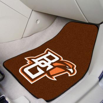 Bowling Green State University Brown Carpet Car Mat, Set of 2